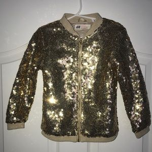 Girls Gold Sequined Jacket from H&M